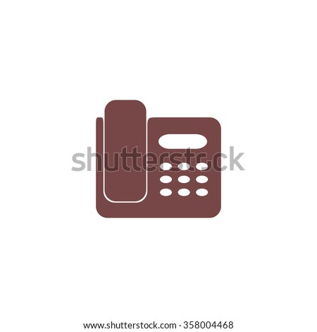 Fax machine. Colorful vector icon. Simple retro color modern illustration pictogram. Collection concept symbol for infographic project and logo - stock vector