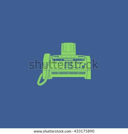 Fax machine icon, vector eps 10 illustration - stock vector