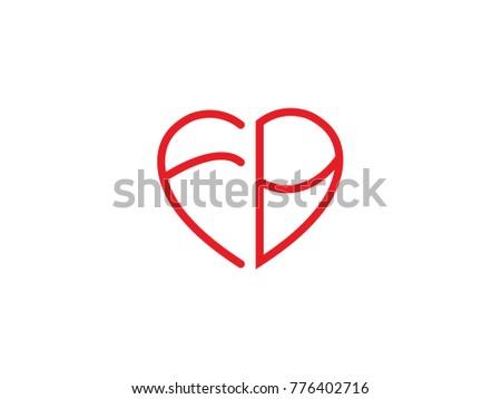 Fb Initial Love Icon Stock Vector 776402716 Shutterstock