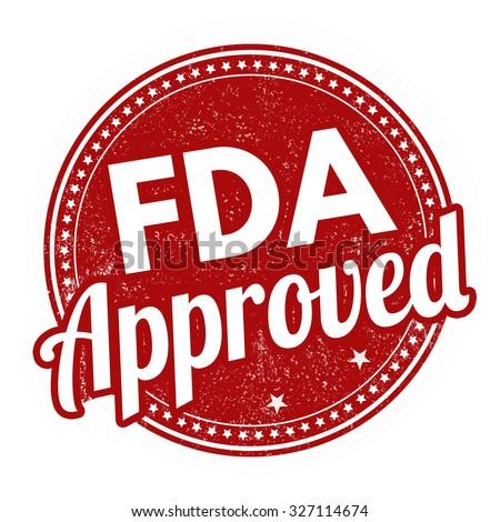 FDA approved grunge rubber stamp on white background, vector illustration - stock vector