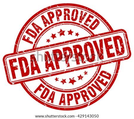 fda approved red grunge round vintage rubber stamp.fda approved stamp.fda approved round stamp.fda approved grunge stamp.fda approved.fda approved vintage stamp. - stock vector