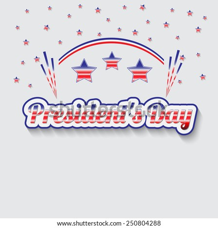 Feast day of the president in the United States - stock vector