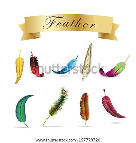 Feather Icons Set - Isolated On White Background - Vector Illustration, Graphic Design Editable For Your Design. - stock vector