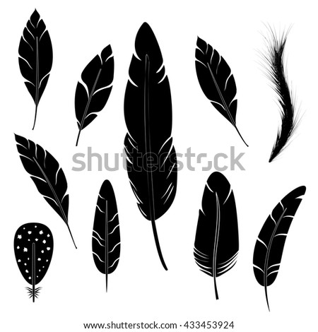 Feather writing tool icon. Concept flat style design illustration icon - stock vector