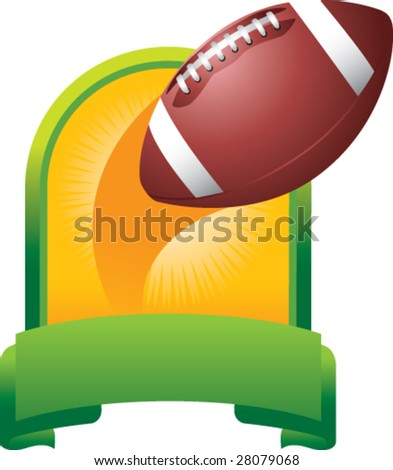 featured football throw - stock vector
