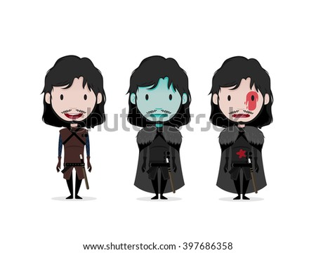 FEB 02, 2016: Vector illustration of Jon Snow (Game of thrones)