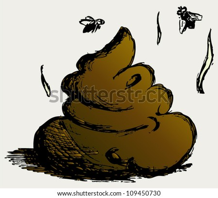 Feces cartoon - stock vector