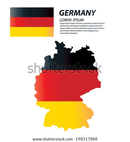 Federal Republic of Germany. flag vector Illustration.