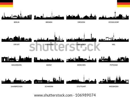 Federal states of germany - stock vector
