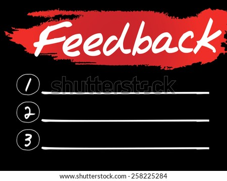 Feedback Blank List, vector concept background - stock vector