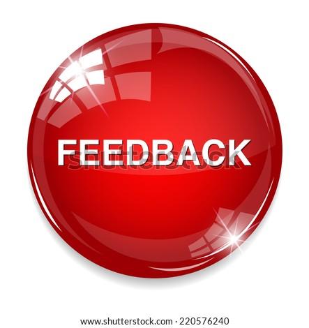 feedback button - stock vector