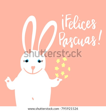 Felices Pascuas Happy Easter Card Template Stock Vector Hd Royalty