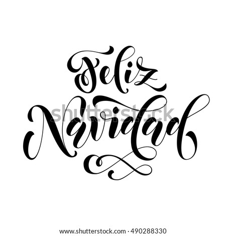stock vector feliz navidad modern lettering for spanish merry christmas greeting holiday card vector hand drawn 490288330 template twitter banner,twitter free download card designs on twitter banner orignal template