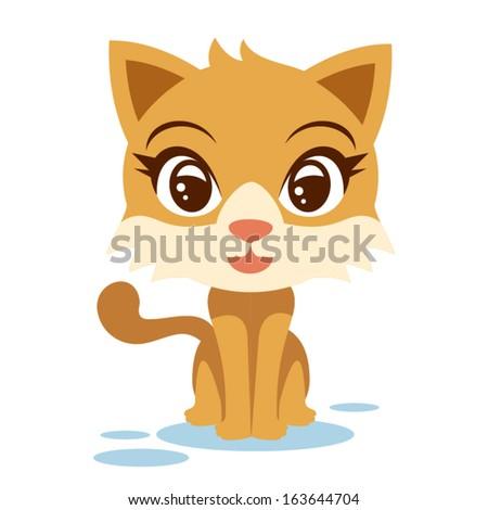Female Cat - stock vector