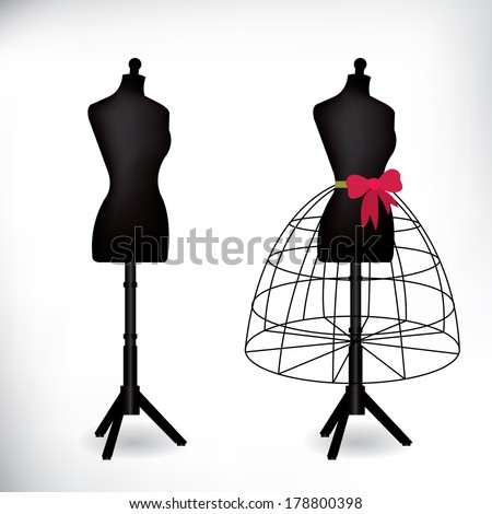 Female dressmakers mannequin - stock vector