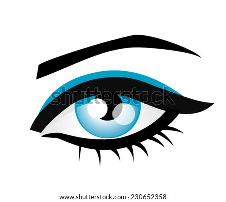 Female eye - stock vector