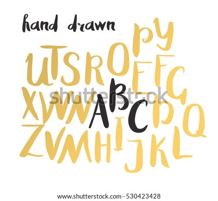 Vector Gold Foil Letters Mint Stock Vector Shutterstock