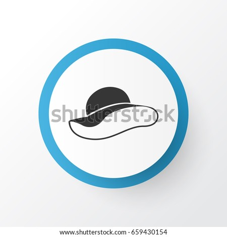Female Hat Icon Symbol. Premium Quality Isolated Elegant Headgear Element In Trendy Style.
