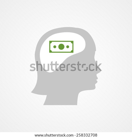 Female head and bill - stock vector