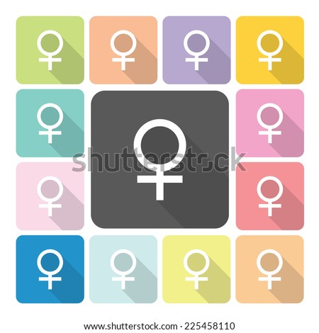 Female Icon color set vector illustration. - stock vector