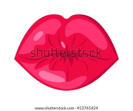 Female lips isolated on white background. Passion makeup mouth. Set woman lips romance cosmetic sensuality desire. Set of mouth smile woman red sexy woman lips isolated shape romantic print emotions - stock vector