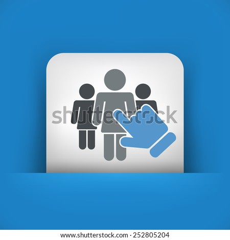 Female selection - stock vector
