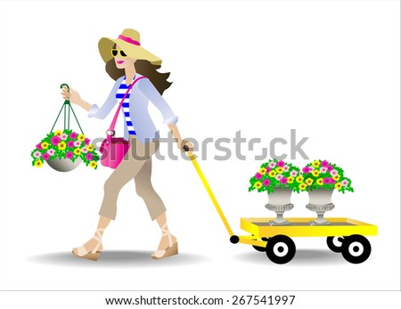 Female shopping for plants to add to her home
