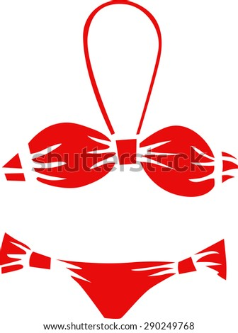 Female swimsuit. Figure . Vector.