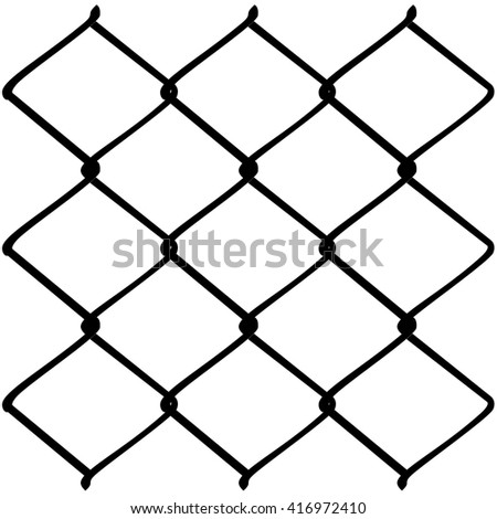 Fence Made Metal Wire Mesh Illustration Stock Vector 416972410 ...