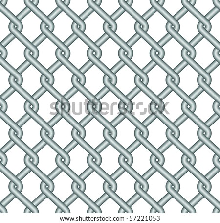 fence, wire - stock vector