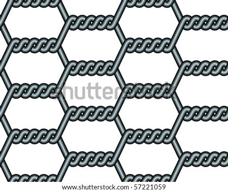 fence, wire, metal - stock vector