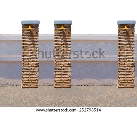 how to make a brick column