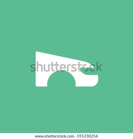 Fender Flat Icon On Green Background Stock Vector 595330256