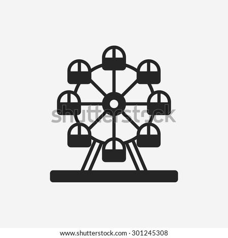 Ferris wheel icon - stock vector