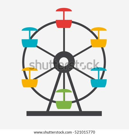 Ferris wheel icon silhouette entertainment round stock vector hd ferris wheel icon silhouette entertainment round attraction vector illustration eps10 ccuart Images