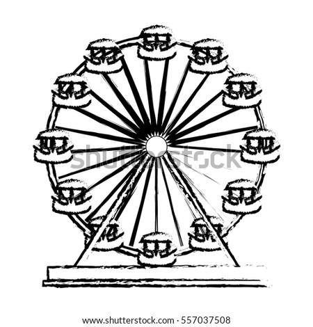 ferris wheel playground icon image vector illustration design
