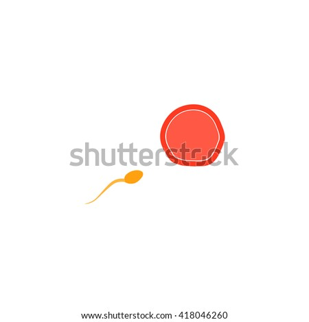 fertilization Simple flat vector icon - stock vector