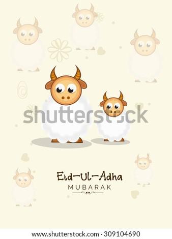 Festival of Eid-Ul_Adha. - stock vector