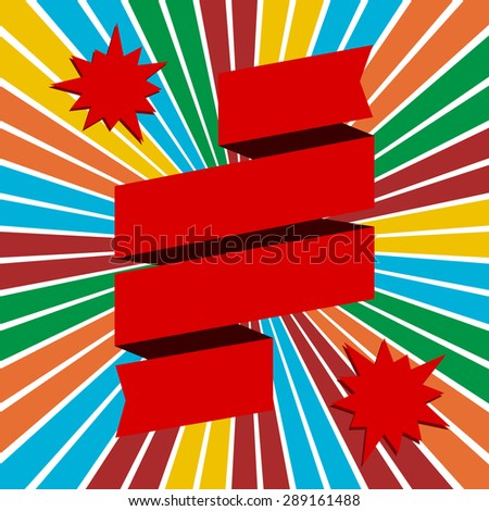 festive abstract background with banner ribbon - stock vector