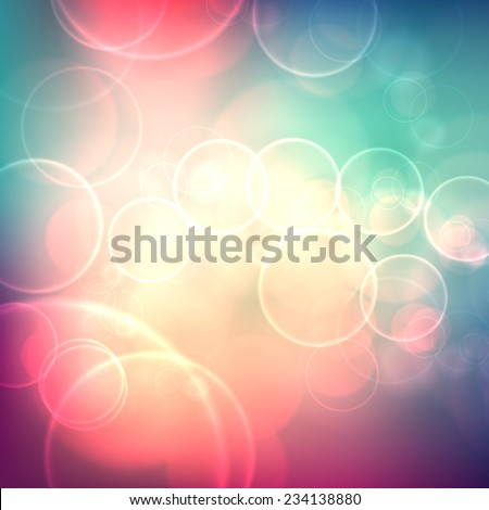 Festive background with de focused lights. Magical background with colorful bokeh. Colorful background with defocused lights.  - stock vector