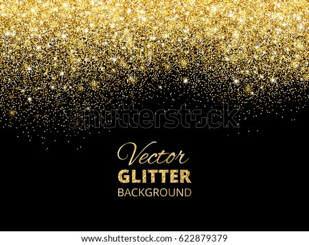 Festive background falling glitter confetti golden stock vector festive background with falling glitter confetti golden dust sparkling glitter border vector frame stopboris