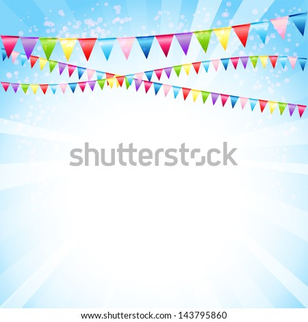 Festive background with flags - stock vector