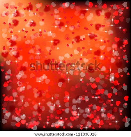 Festive background with hearts