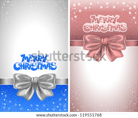 Festive backgrounds with bows and copy space - stock vector