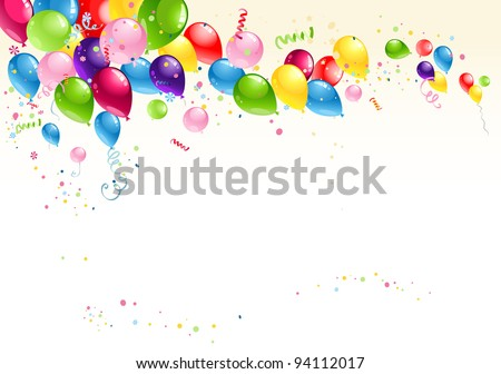 Festive balloons background - stock vector