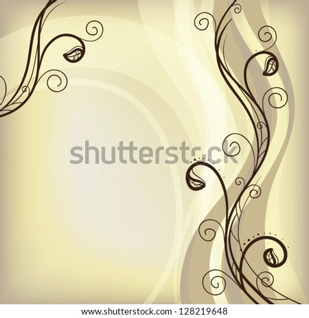 festive brown background, vector - stock vector