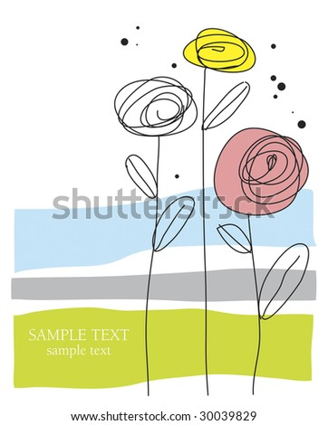 Festive card vector - stock vector
