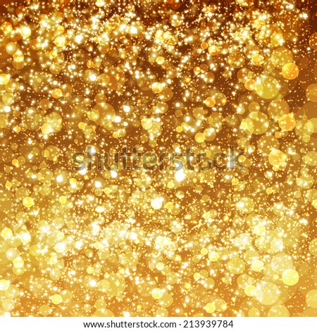 Festive Christmas and New Year bokeh background - stock vector