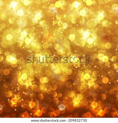 Festive Christmas and New Year feast bokeh background, easy editable