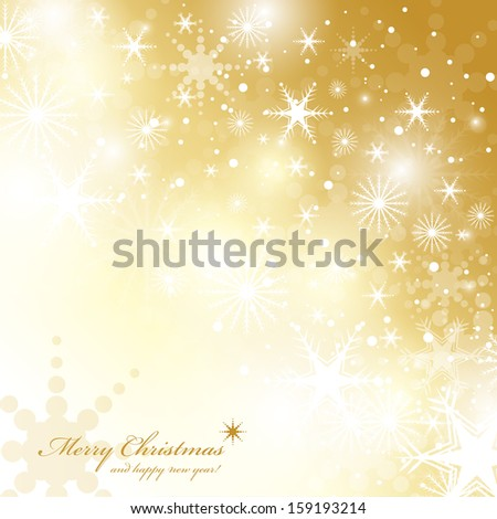 Festive Christmas Background - Vector Illustration, Graphic Design Useful For Your Design